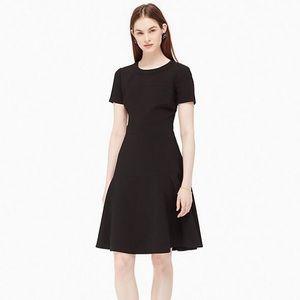 KATE SPADE Crepe Flip Dress Black Sz 12
